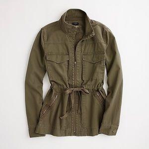 🌿 J. Crew Washed Cotton Military Jacket 🌿
